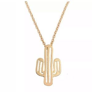 Jewelry - New • gold cactus necklace